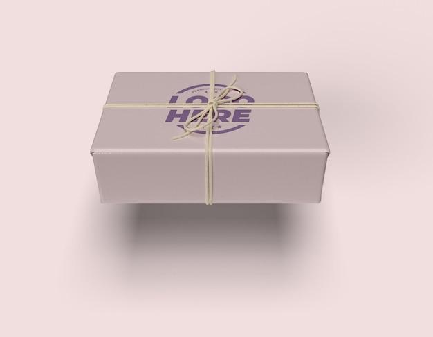 Design de maquete de caixa de corda amarrada isolado Psd Premium