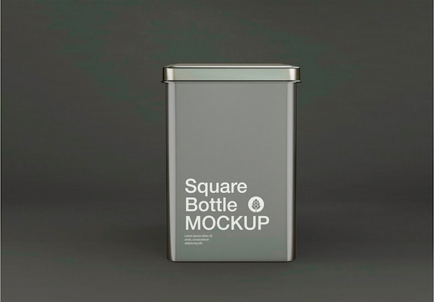 Design de maquete de caixa de lata metálica Psd Premium