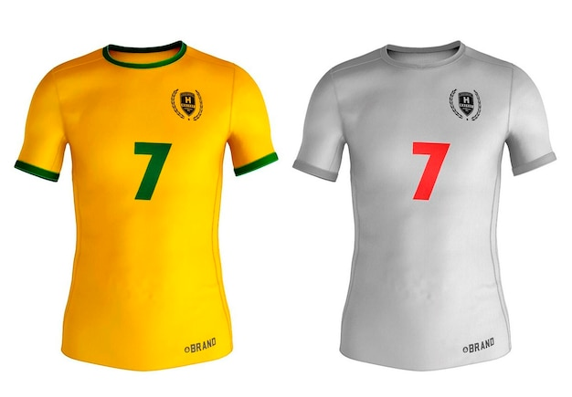 Design de maquete de camisetas esportivas masculinas Psd Premium