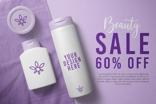 Design de maquete de cosméticos para frascos de loção Psd Premium