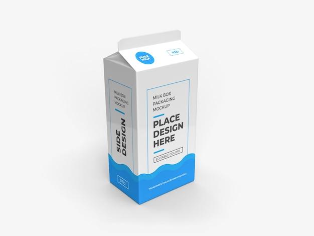 Design de maquete de embalagem de leite e bebida isolado Psd Premium