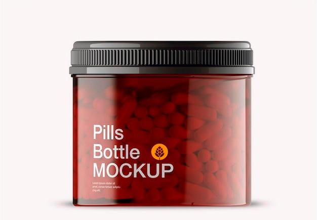 Design de maquete de frasco de pílulas Psd Premium