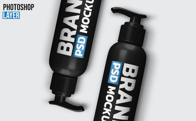 Design de maquete de garrafa de gel de bomba Psd Premium