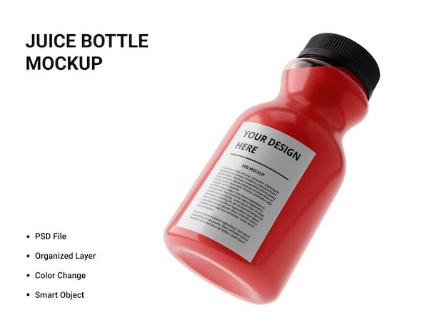 Design de maquete de garrafa de suco Psd Premium