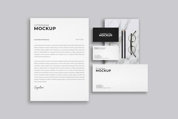 Design de maquete de identidade corporativa Psd Premium