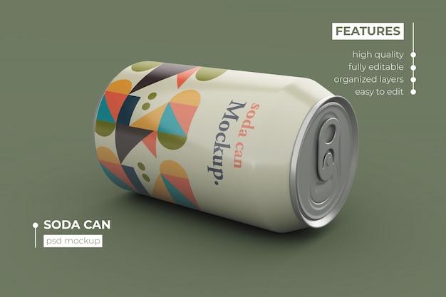 Design de maquete de lata de refrigerante de qualidade premium Psd Premium