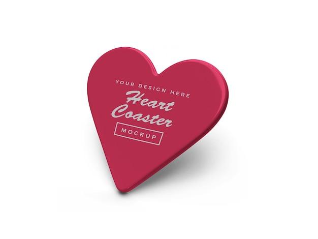 Design de maquete de montanha-russa de coração isolado Psd Premium
