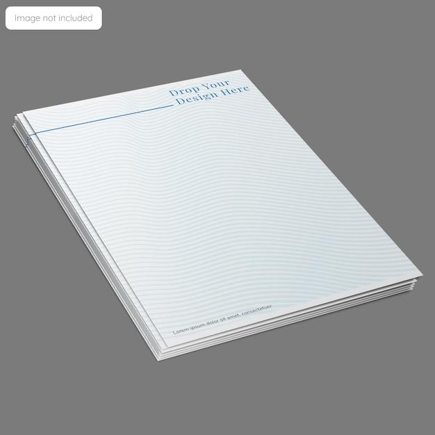Design de maquete de papel timbrado Psd Premium