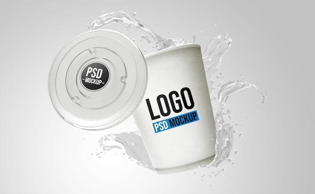 Design de maquete de renderização 3d de garrafa Psd Premium