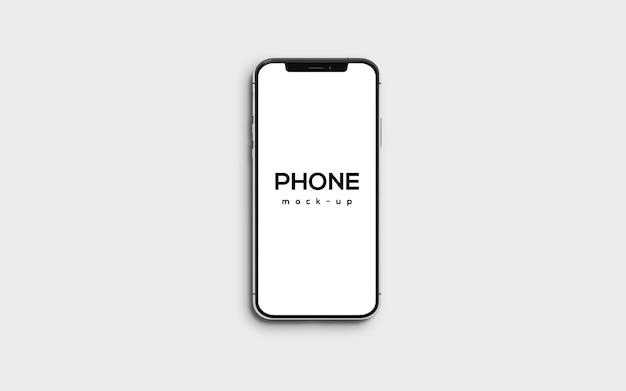 Design de maquete de smartphone em tela cheia Psd Premium