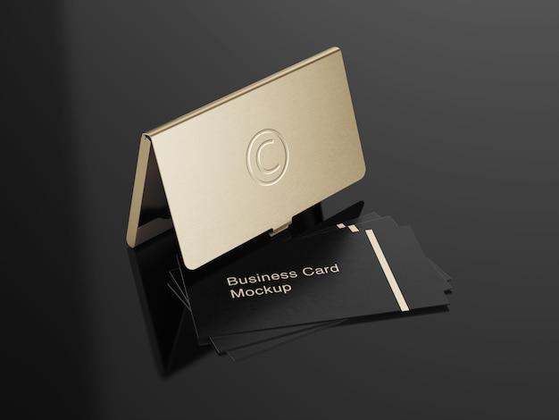 Design de maquete de suporte de cartão de visita de luxo Psd Premium