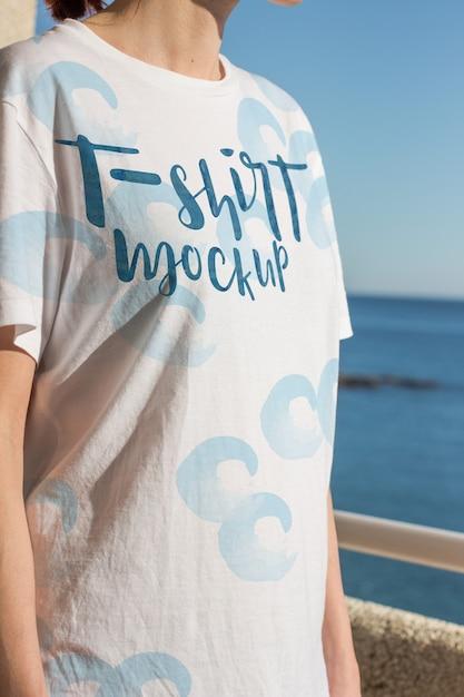 Design de maquete de t-shirt Psd grátis