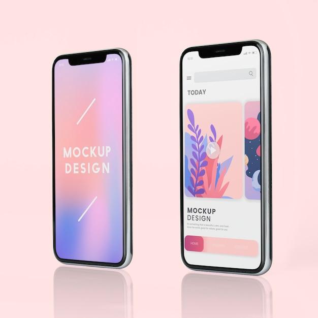 Design de maquete de tela cheia de smartphone Psd grátis