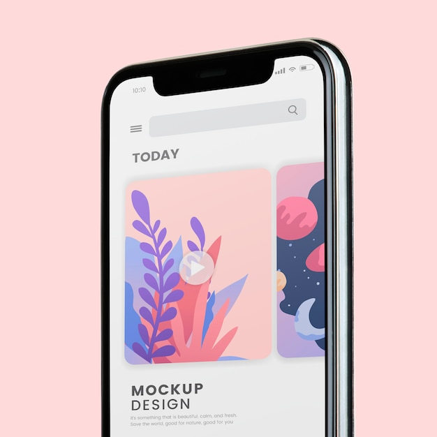 Design de maquete de tela de celular Psd grátis