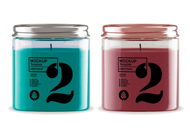Design de maquete de vela de lata isolado Psd Premium