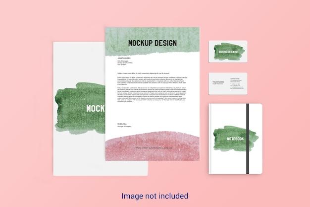 Design de maquete estacionário Psd Premium