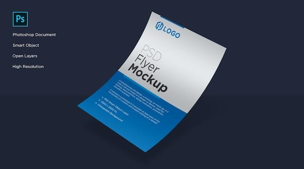 Design de mockup de curva de folheto e pôster Psd Premium