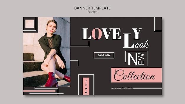 Design de modelo de banner de conceito de moda Psd grátis
