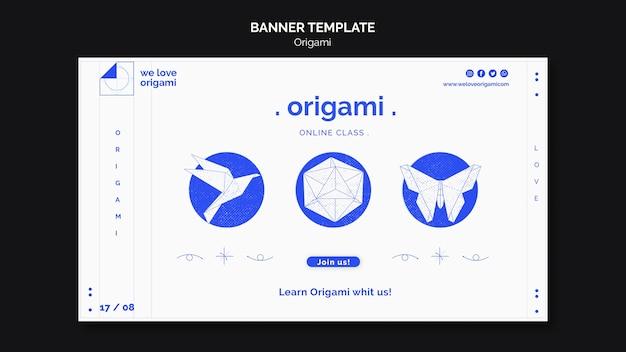 Design de modelo de banner de origami Psd grátis