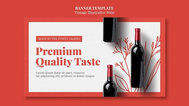 Design de modelo de banner de vinho Psd grátis