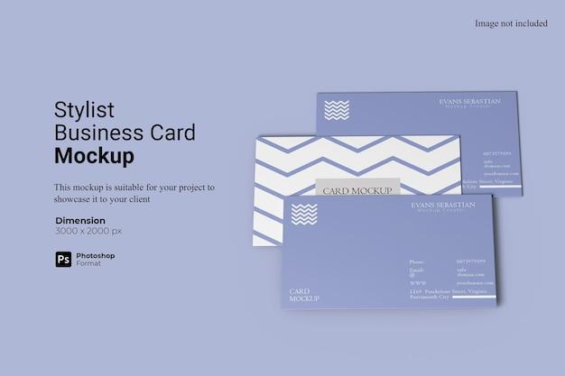 Design de modelo de cartão de visita estilista Psd Premium