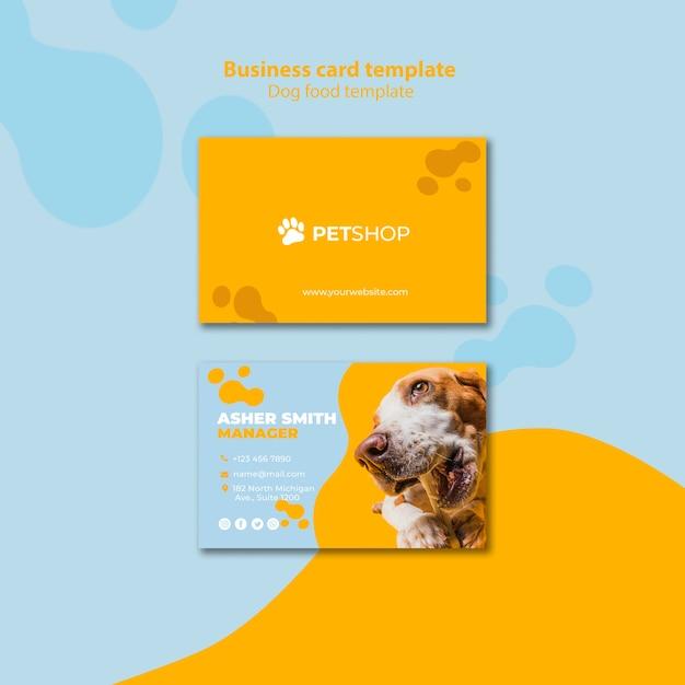 Design de modelo de cartão de visita para pet shop Psd grátis