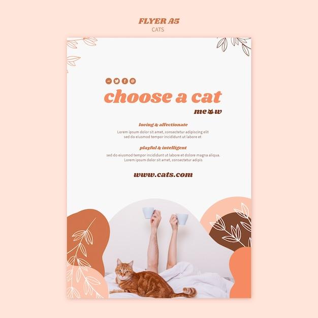 Design de modelo de cartaz de gatos Psd grátis