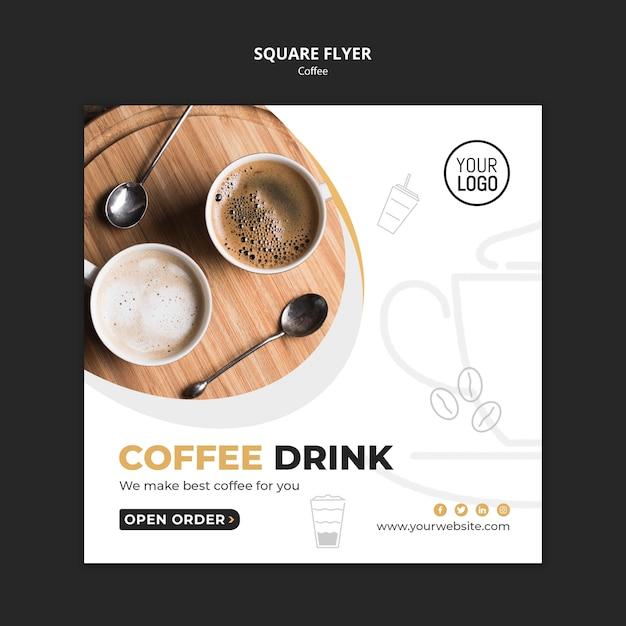 Design de modelo de panfleto de café Psd grátis