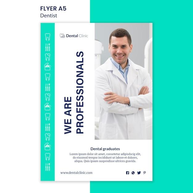 Design de modelo de panfleto de dentista Psd grátis
