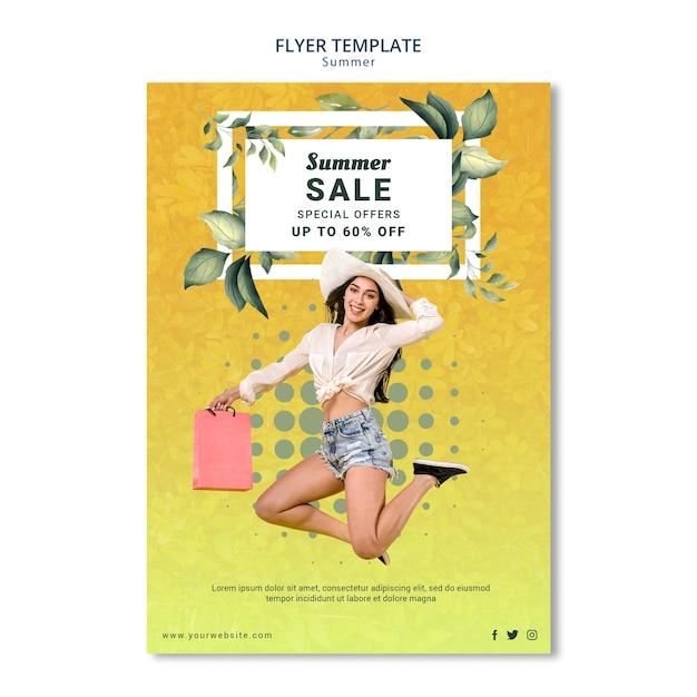 Design de modelo de panfleto de venda verão Psd grátis