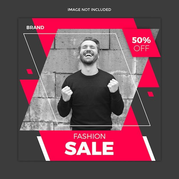Design de modelo de post de mídia social de venda preto Psd Premium