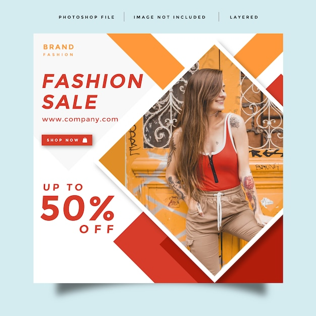 Design de promoção pós moda feed de mídia social Psd Premium
