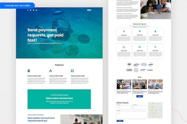 Design de site de pagamento online Psd Premium
