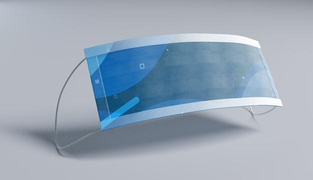 Design futurista de máscara médica Psd grátis