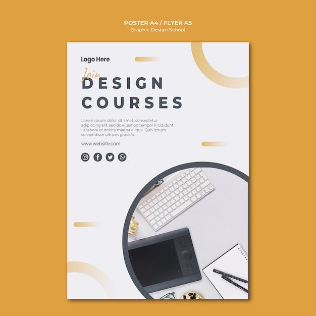 Design gráfico do modelo de folheto Psd grátis