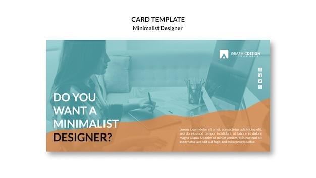 Design minimalista do conceito de cartão de visita Psd grátis