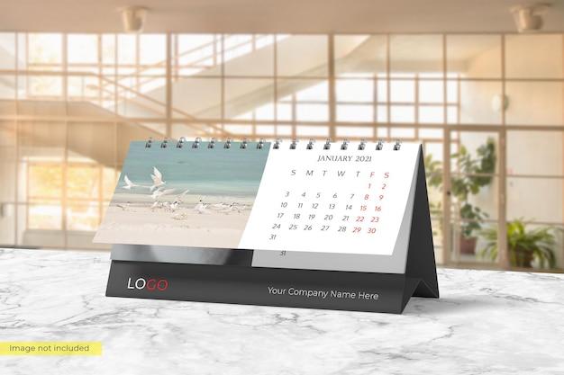 Design realista de maquete de calendário de mesa Psd Premium