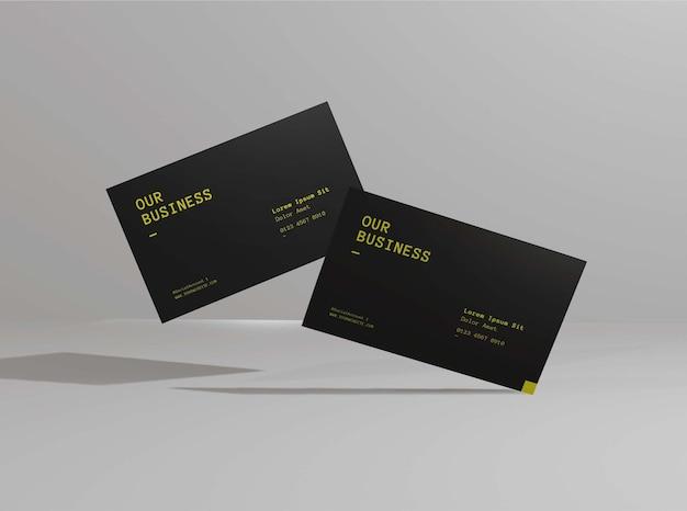 Design realista de maquete de cartão de visita Psd Premium