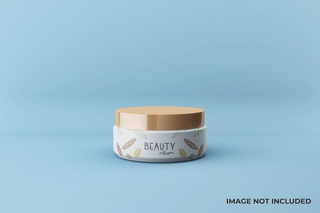 Design realista de maquete de frasco de creme facial Psd Premium