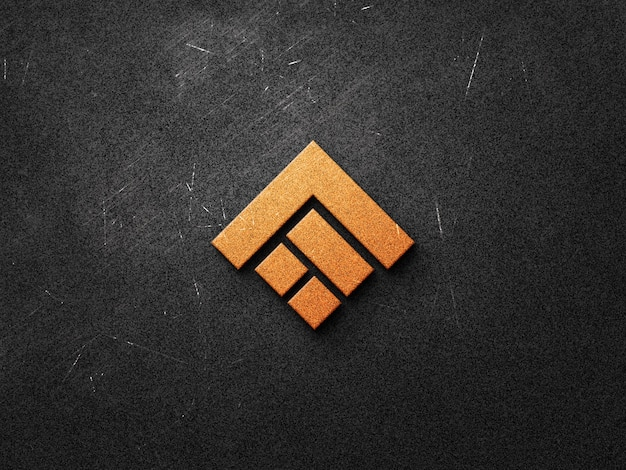 Design realista de maquete de logotipo Psd Premium