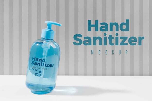 Desinfetante para as mãos em maquete de garrafa Psd Premium