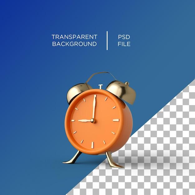 Despertador 3d em fundo transparente Psd Premium