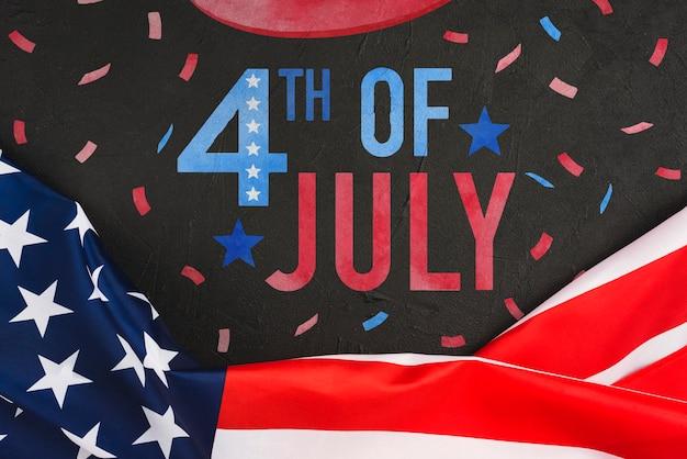 Dia da independência nos estados unidos da américa. 4 de julho Psd grátis