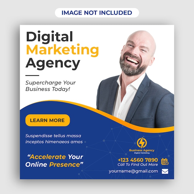 Digital business marketing social media banner quadrado Psd Premium
