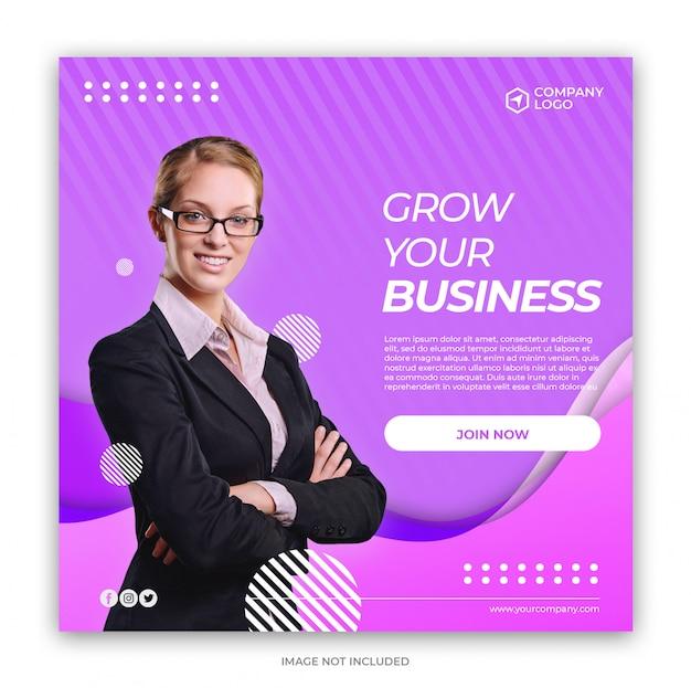 Digital business marketing social media banner quadrado Psd Premium