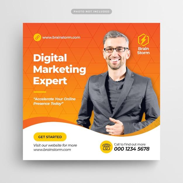 Digital business marketing social media post banner ou flyer quadrado Psd Premium