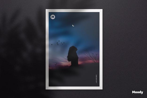 Documento a4 ou modelo de panfleto com sombra Psd Premium