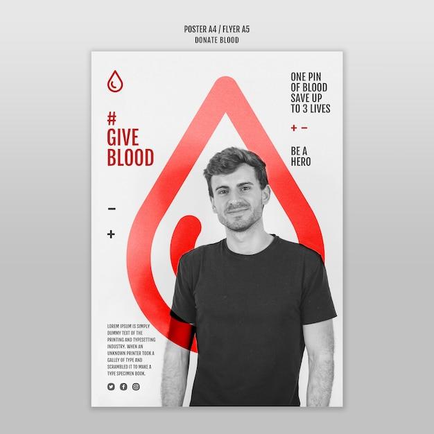 Doe sangue estilo modelo de pôster Psd grátis