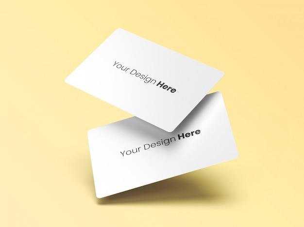 Dois cartões de visita flutuantes mínimos Psd Premium