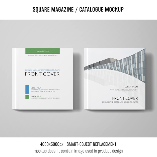 Dois modelos quadrados de revistas ou catálogos Psd grátis